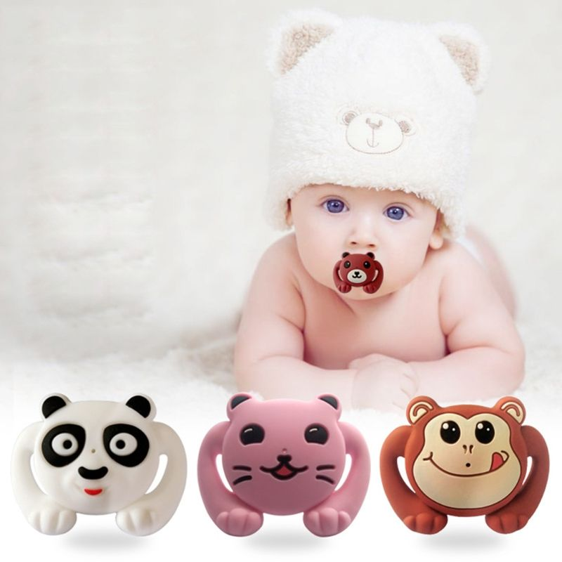 Cartoon Panda Baby Kids Silicone Orthodontic Soother Dummy Pacifier Trendy