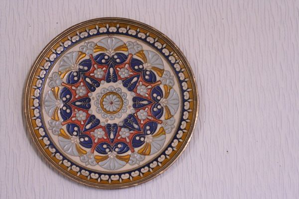One of my most favourite thrifting treasures - a brass painted plate.