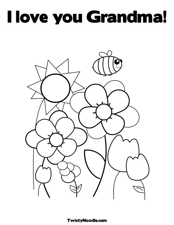 Love You Grandma Coloring Pages Paper Art Pinterest Spring