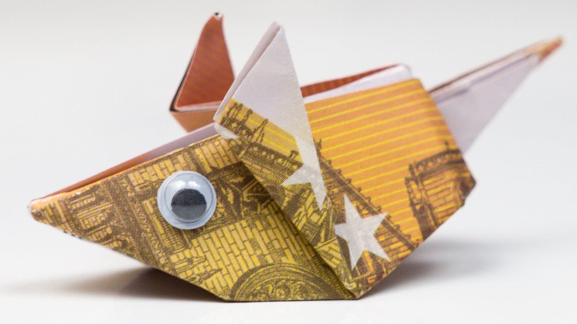 geldgeschenk idee maus falten origami anleitung. Black Bedroom Furniture Sets. Home Design Ideas