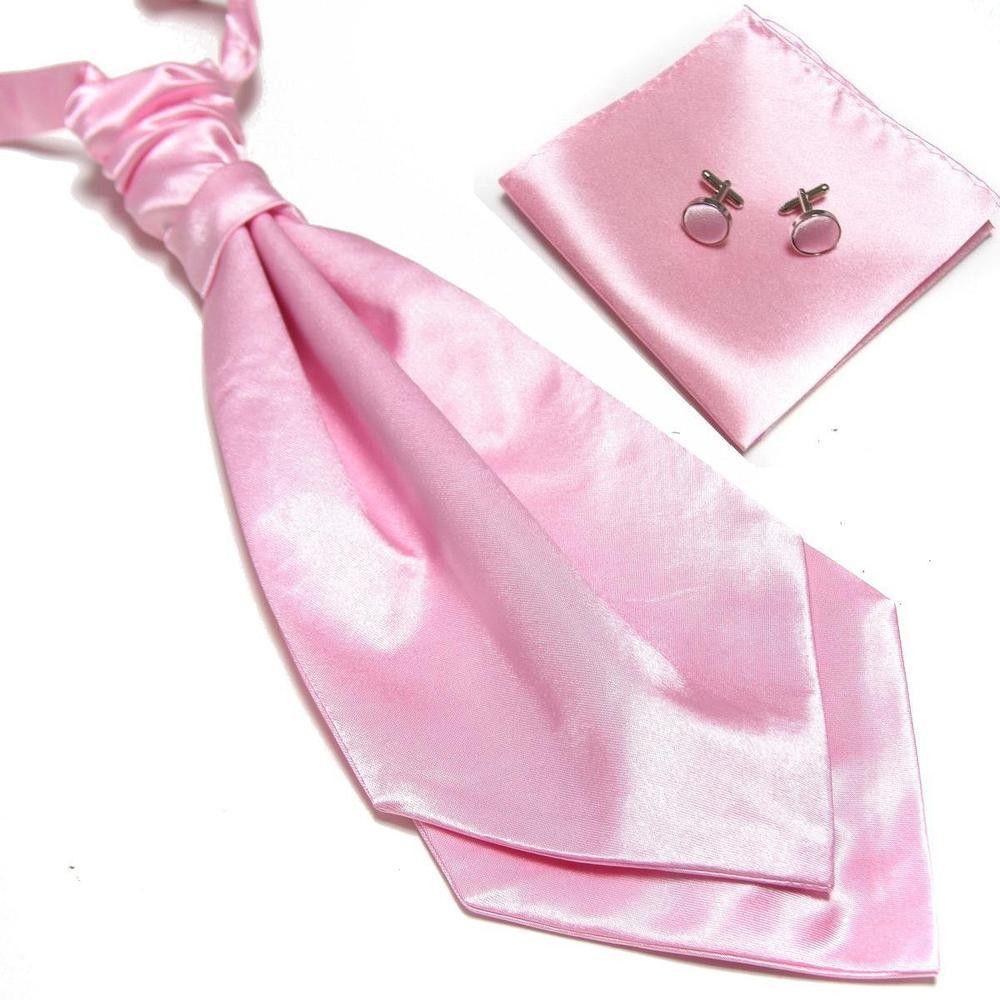 Solid Color Ascot Fashion Set Light Pink