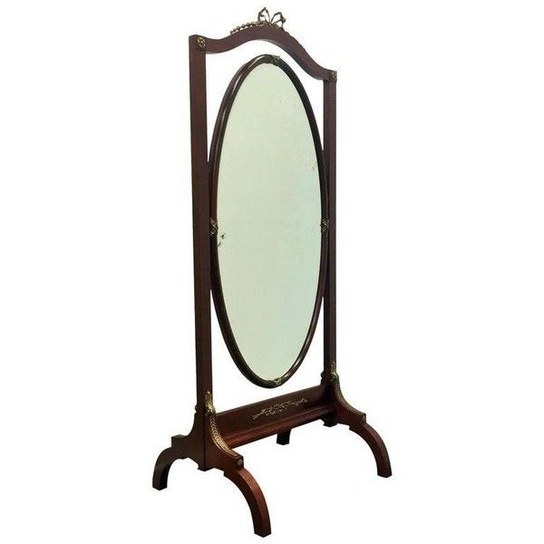 French Empire Mahogany Psyche or Cheval Mirror ($1,720) ❤ liked on ...