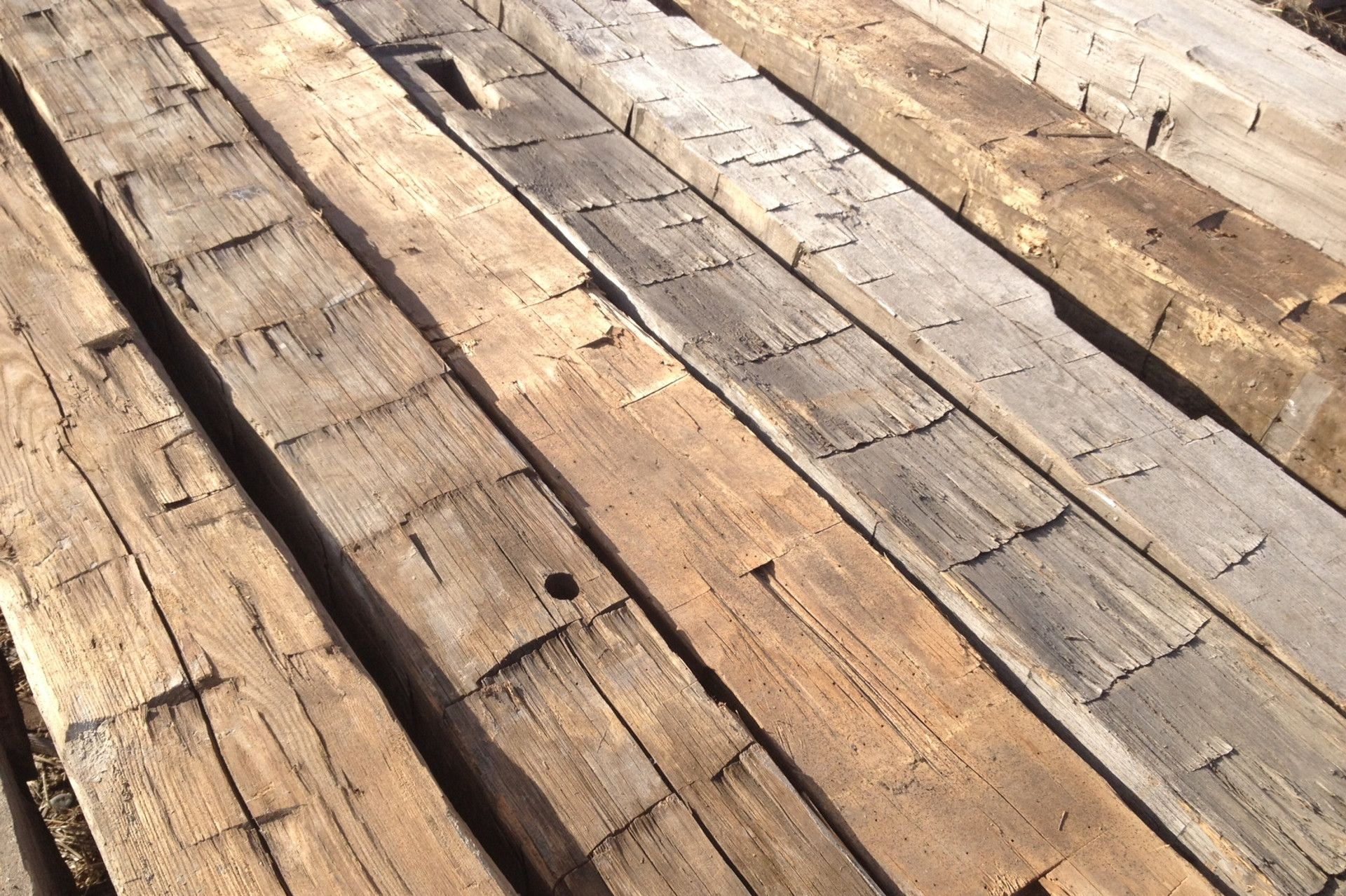 Antique Hand Hewn Beams In Our Belgrade