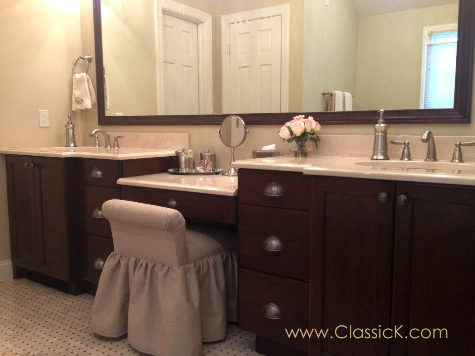 Bathroom Custom Built Vanities Home Interior Designs Clever Design - Semi custom bathroom cabinets for bathroom decor ideas