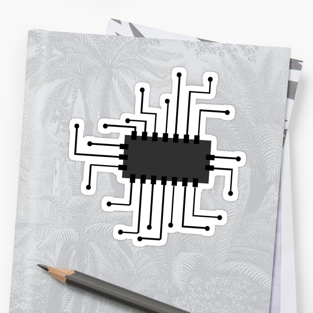 Chip • Millions of unique designs by independent artists. Find your thing. #Sticker #chip #icon #micro #processor #computer #cpu #symbol #technology #microprocessor #circuitry #core #microchip