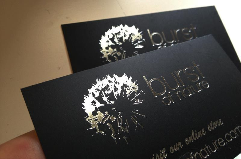 Silver foil business card for our customer burst of nature they do silver foil business card for our customer burst of nature they do lovely soy candles colourmoves Choice Image