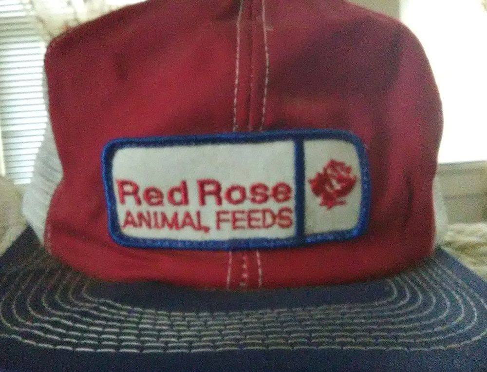 63a7b5972a9 K Brand Snapback Hat Red Rose Animal Feed Vtg 70s Trucker Patch red white  blue  fashion  clothing  shoes  accessories  mensaccessories  hats (ebay  link)