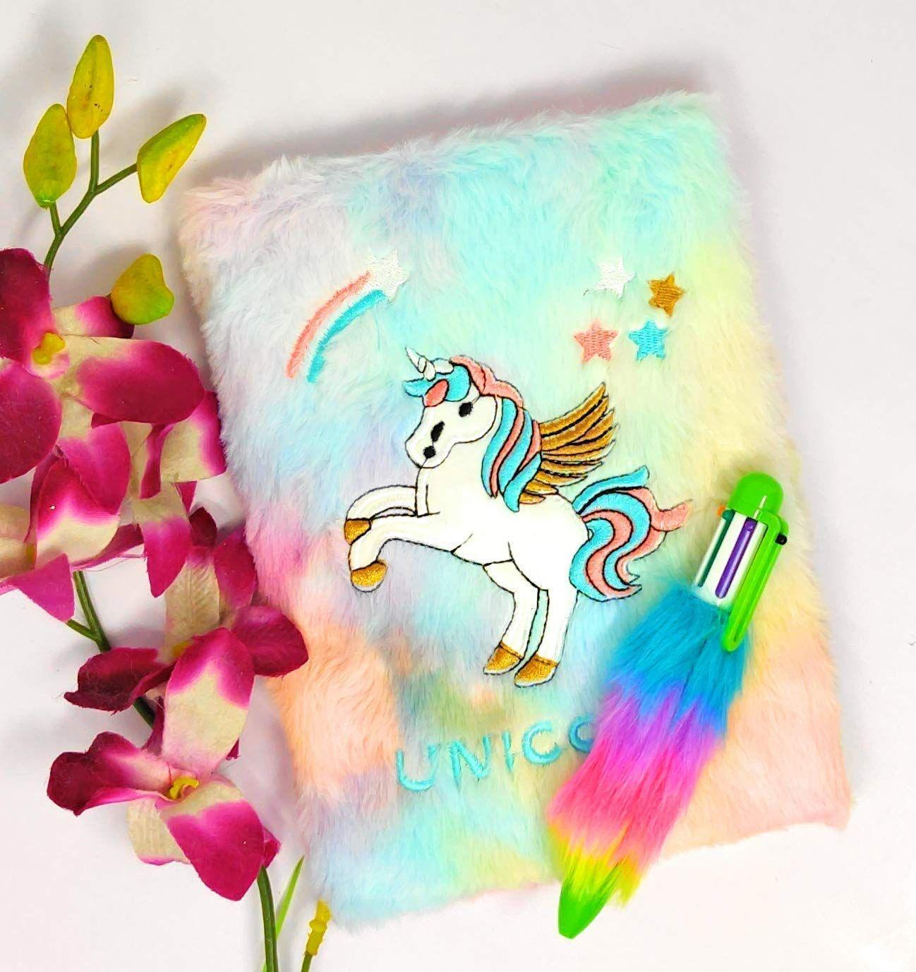 Tera13 Pack Of 2 Unicorn Diary With Pen Unicorn Diary Unicorn Books Paper Flowers Craft What reading level is unicorn diaries