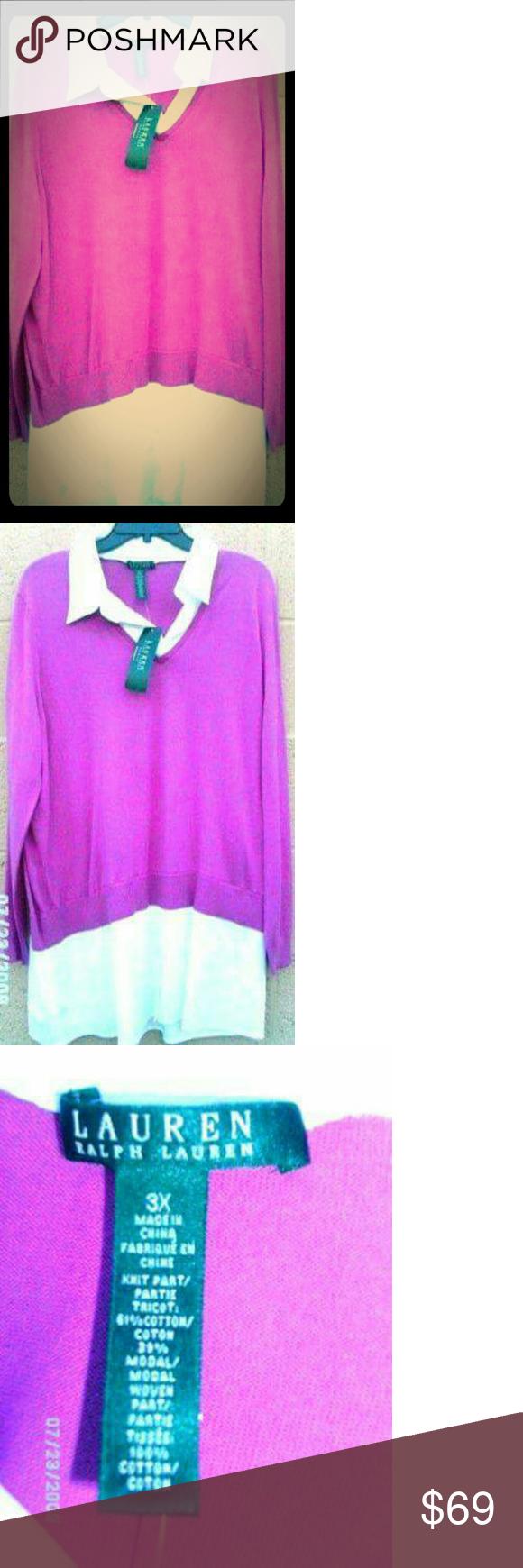 Lauren Ralph Lauren Women's Shirt Dress Pink 3X Lovely RL dress. Lauren Ralph Lauren Dresses Long Sleeve