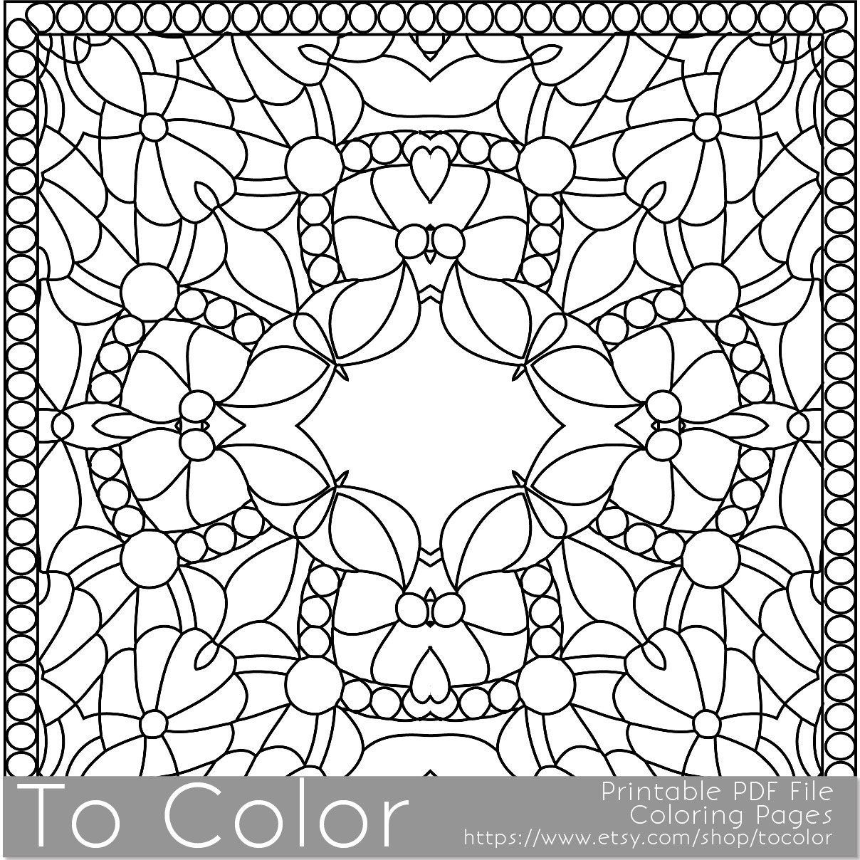 Printable coloring pages for adults square coloring coloring