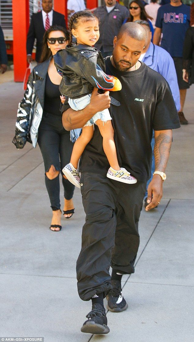 Kanye West Takes Charge Of Daughter North During Day Out With Kim Kanye West And Kim Kanye West Style Kanye West