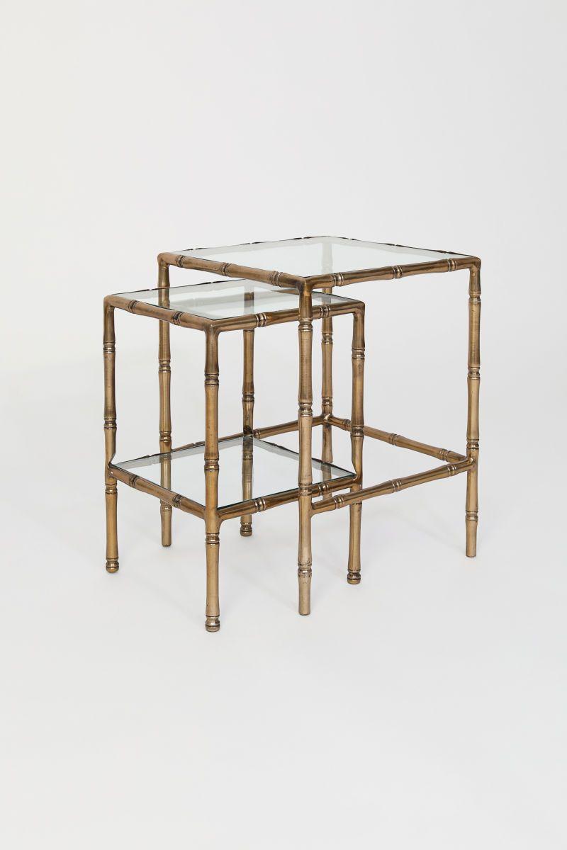 Side Table Van Glas.Satztische Aus Glas Suchen In 2019 Bamboo Table Table
