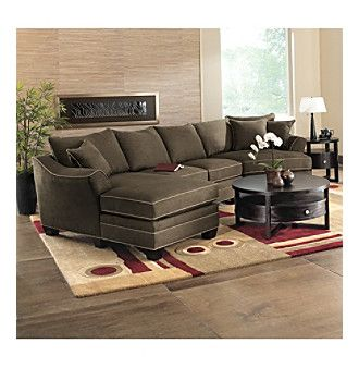 Hm Richards Bryant Flared Arm Espresso 3 Pc Microfiber Sectional Collection At Www Carsons