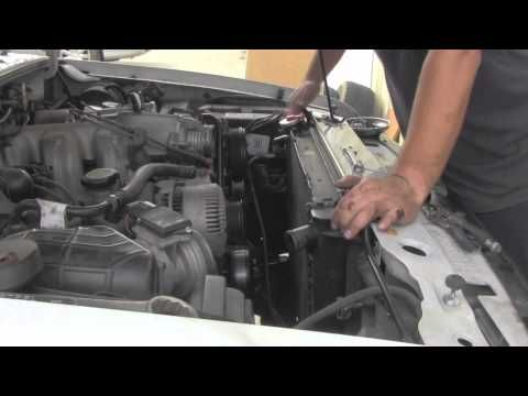 Radiator replacement Ford Ranger 2001-2011 2.3L Mazda Install Remove Replace - YouTube