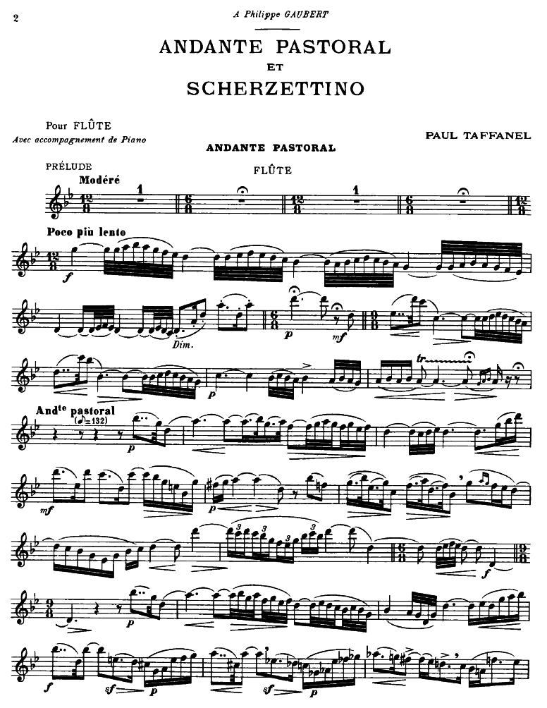 Andante pastoral et Scherzettino (Taffanel, Paul) - IMSLP