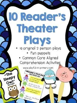 •10 Fun and original Reader's Theater Plays •2 roles per play with a highlighted script for each character •Perfect for your independent Literacy Centers, Language Arts activities, fluency practice, as Read to Someone during Daily 5 and much more! •Each play comes with a Common Core aligned comprehension activity •Bright and colorful puppets accompany each play. •Each play is 3 pages long. Great for file folder storage!