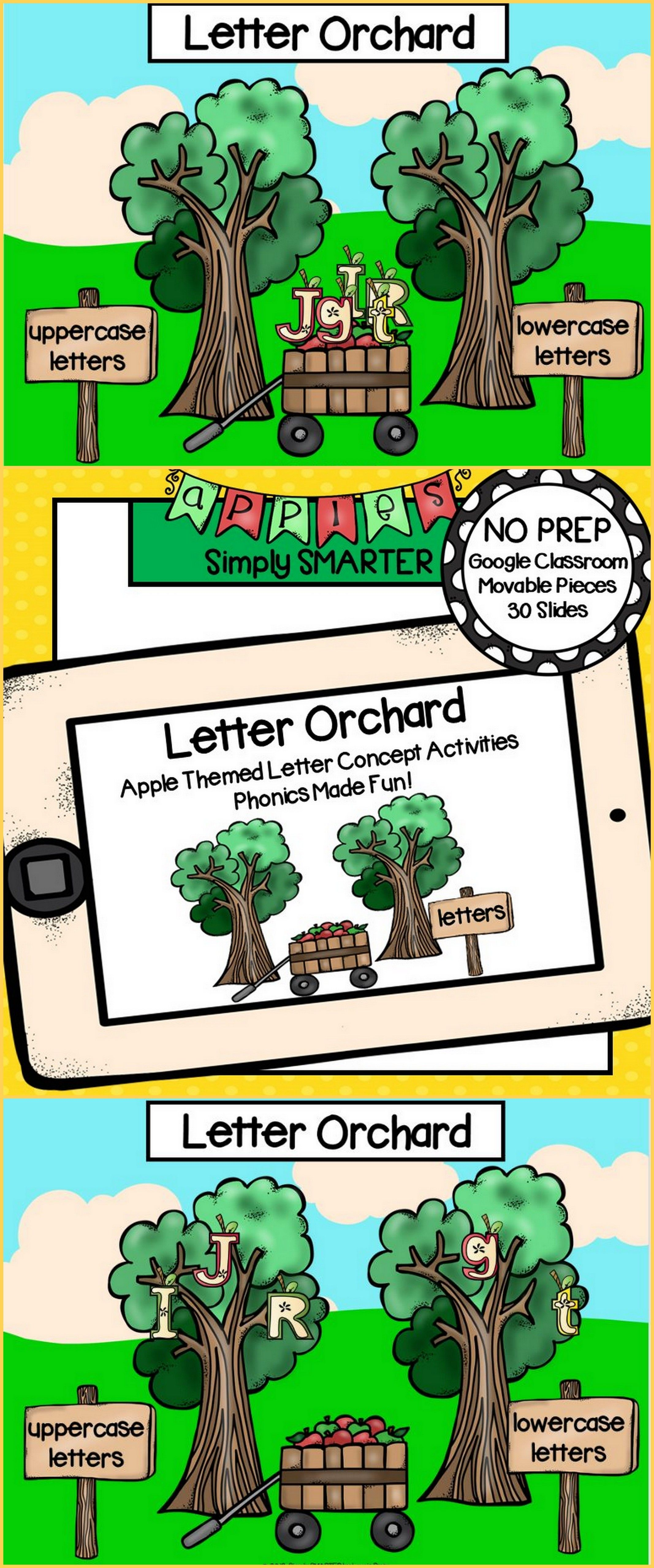 Apple Themed Letter Concept Activities For