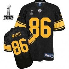 fb471aef7 Steelers  86 Hines Ward Black With Yellow Number Super Bowl XLV Stitched  NFL Jersey