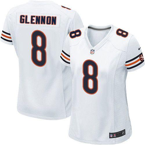 c0a7b03cb35 Women's Nike Chicago Bears #8 Mike Glennon Game White NFL Jersey ...
