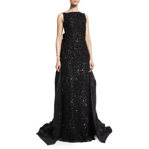 Oscar De La Renta Sleeveless Embellished-Lace Gown (€4.265) ❤ liked ...