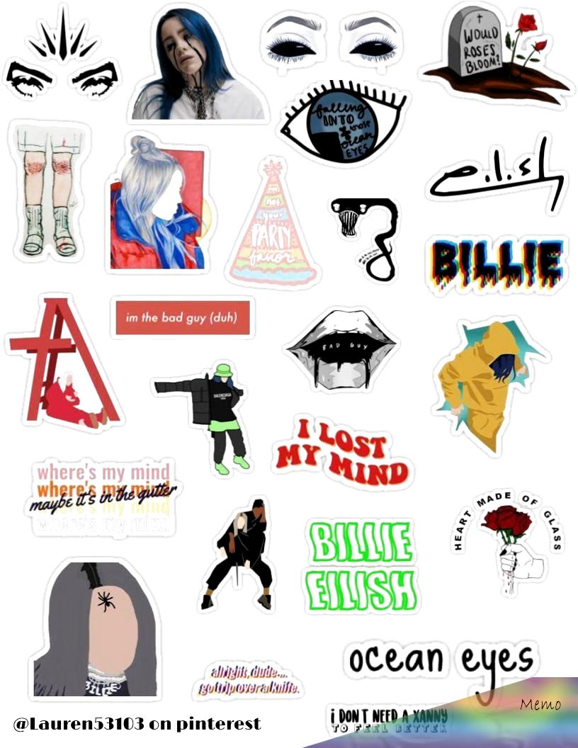Pin By Myah Bradtke On Stickers Billie Eilish Billie Hydroflask Stickers