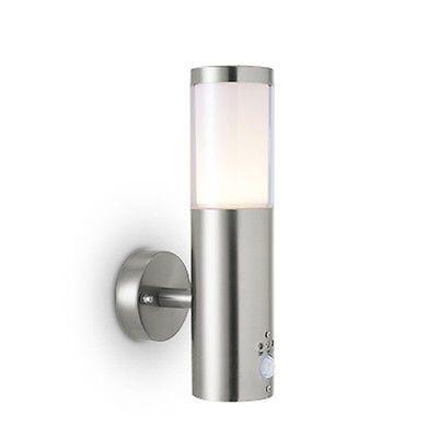 au enleuchte edelstahl led 5watt mit bewegungsmelder gartenlampe wandleuchte aussenlampen. Black Bedroom Furniture Sets. Home Design Ideas
