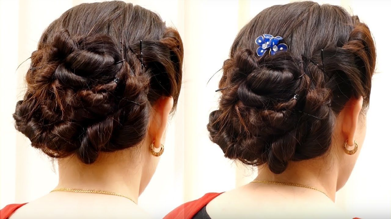 Pin By Poonam Kaur On Beautifu Hairstyles Pinterest Hairstyles - Hairstyle bun videos
