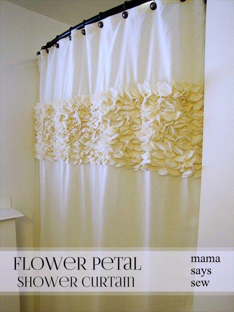Flower Petal Shower Curtain Diy Shower Curtain Diy Bathroom