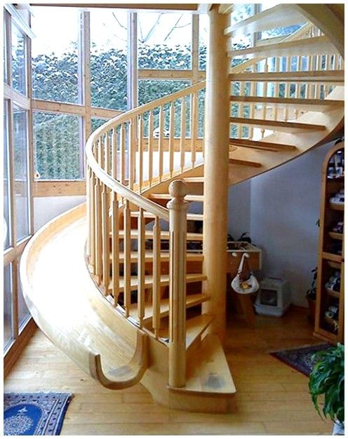 Another Spiral Staircase Slide Combo Tho I Like The Safety Of The
