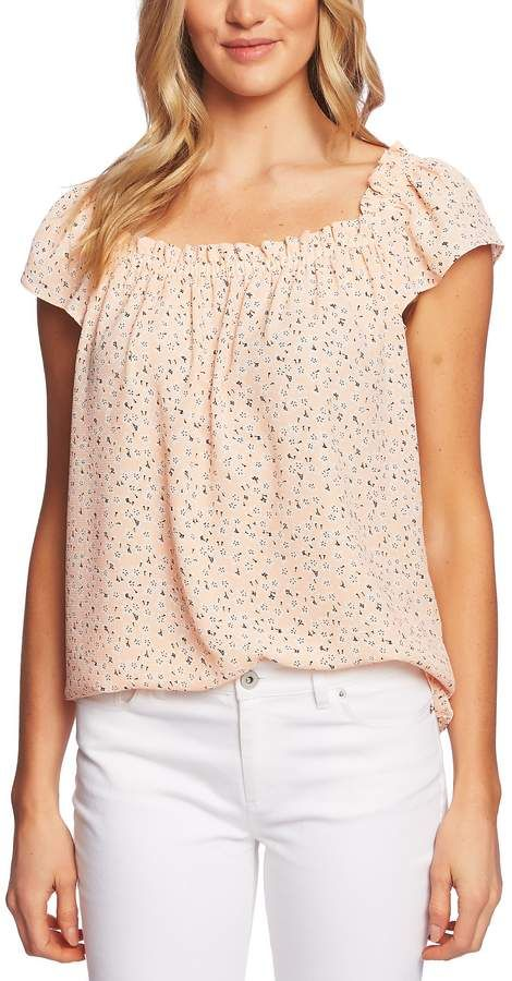 a1f9c3ab29d742 CeCe Sakura Delight Floral Ruffle Top in 2019 | Products | Ruffle ...