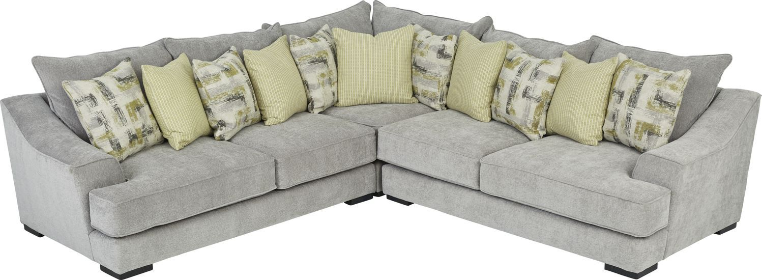 Briar Crossing Gray 3 Pc Sectional Grey Sectional Rooms To Go