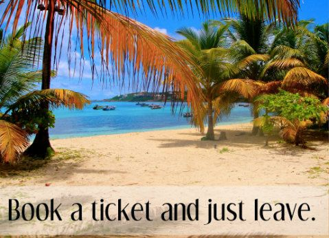 Book a ticket and just leave Blank Greeting Card Send Positive - blank ticket