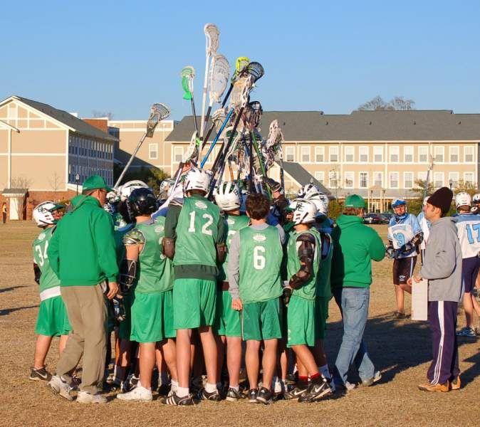 Daniels Island Charleston Sc: Bishop England High School Lacrosse Team On Daniel Island