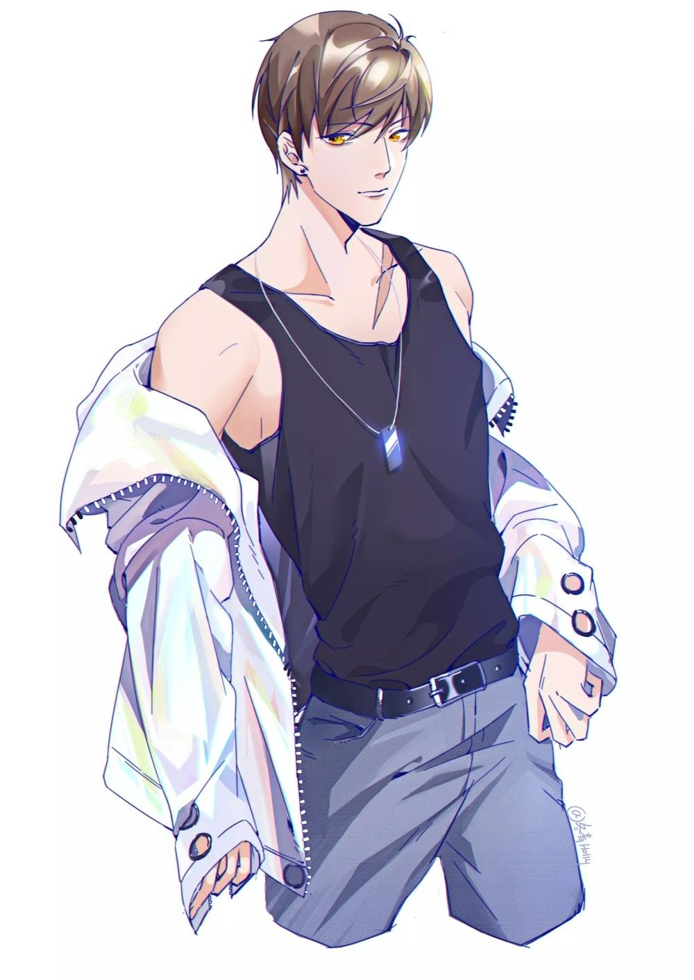Art by 冬青Holly Anime boy, Handsome anime, Handsome anime