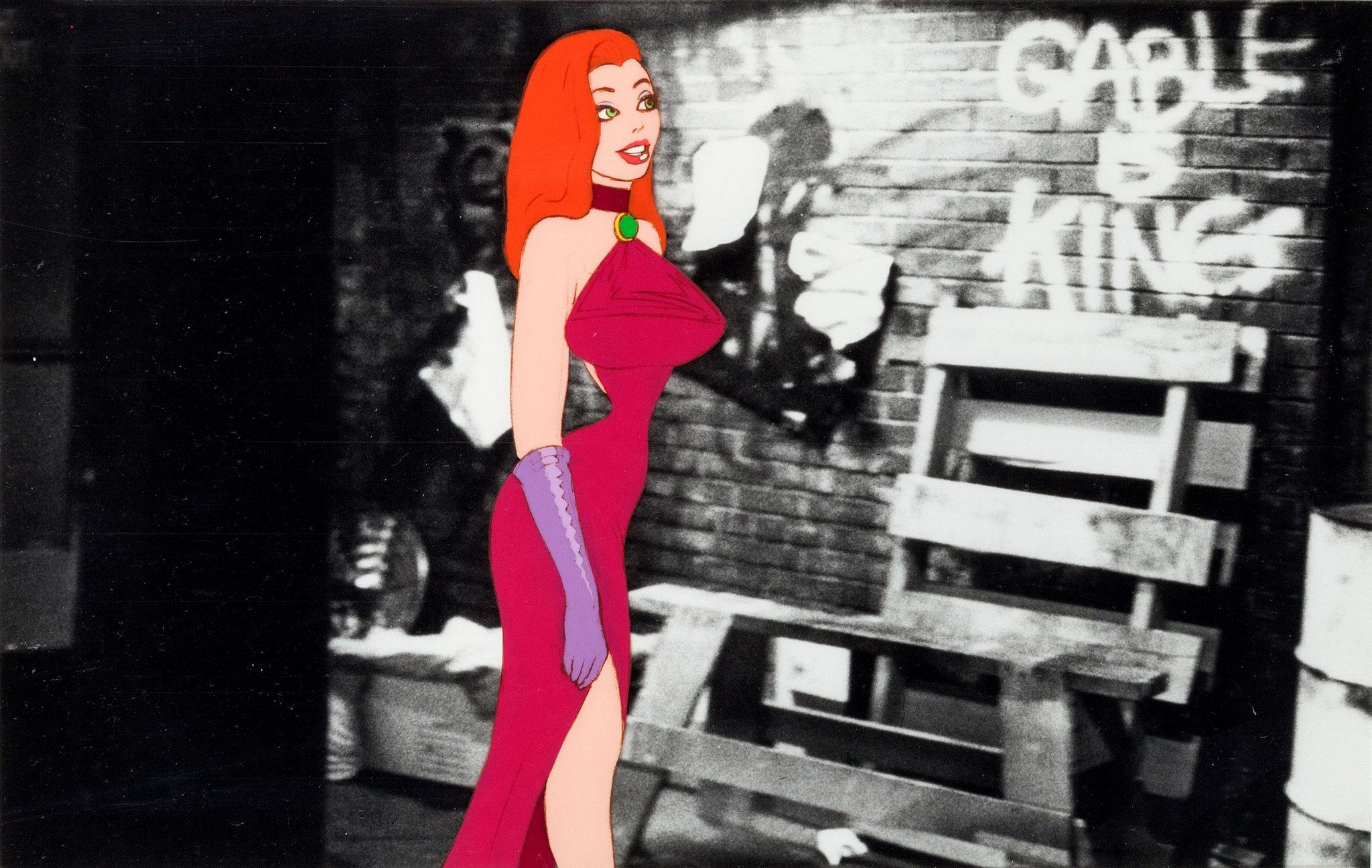 Jessica Rabbit concept art from Who Framed Roger Rabbit