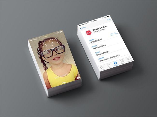 Grafiker De Die Visitenkarte Im Ios 7 Design Business