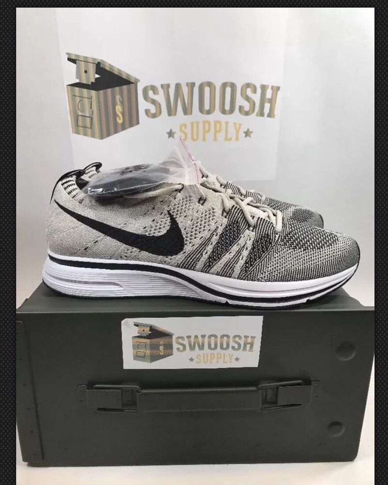 95a59954285c New Mens Size 15 Nike Flyknit Trainer 2017 Pale Grey Black White AH8396-001   NIKE  RunningCrossTraining