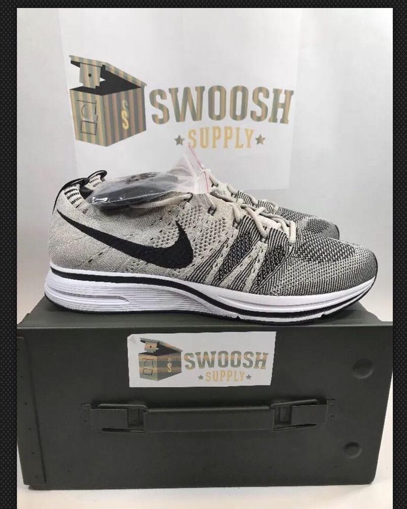 New Mens Size 15 Nike Flyknit Trainer 2017 Pale Grey Black White AH8396-001   NIKE  RunningCrossTraining d0ce80f64