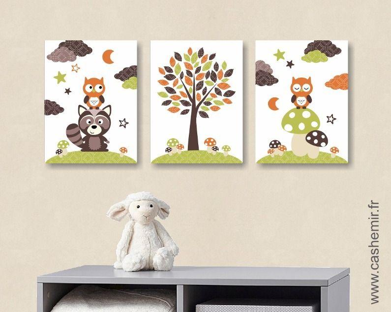 Lot de 3 illustrations pour chambre d\'enfant garçon, affiche ...