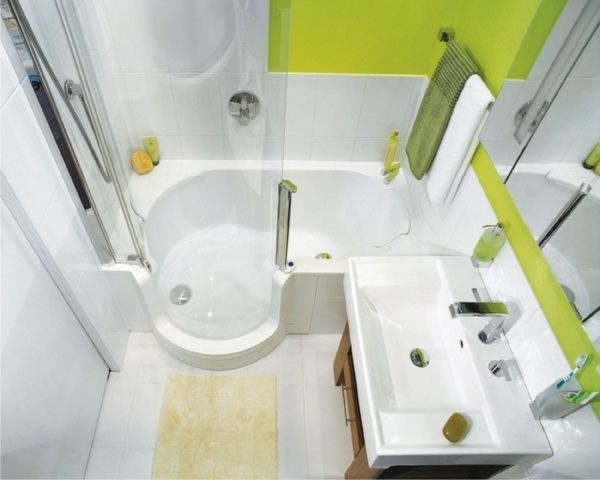Small Bathroom Design Bathtub Shower Combo Space Saving Ideas
