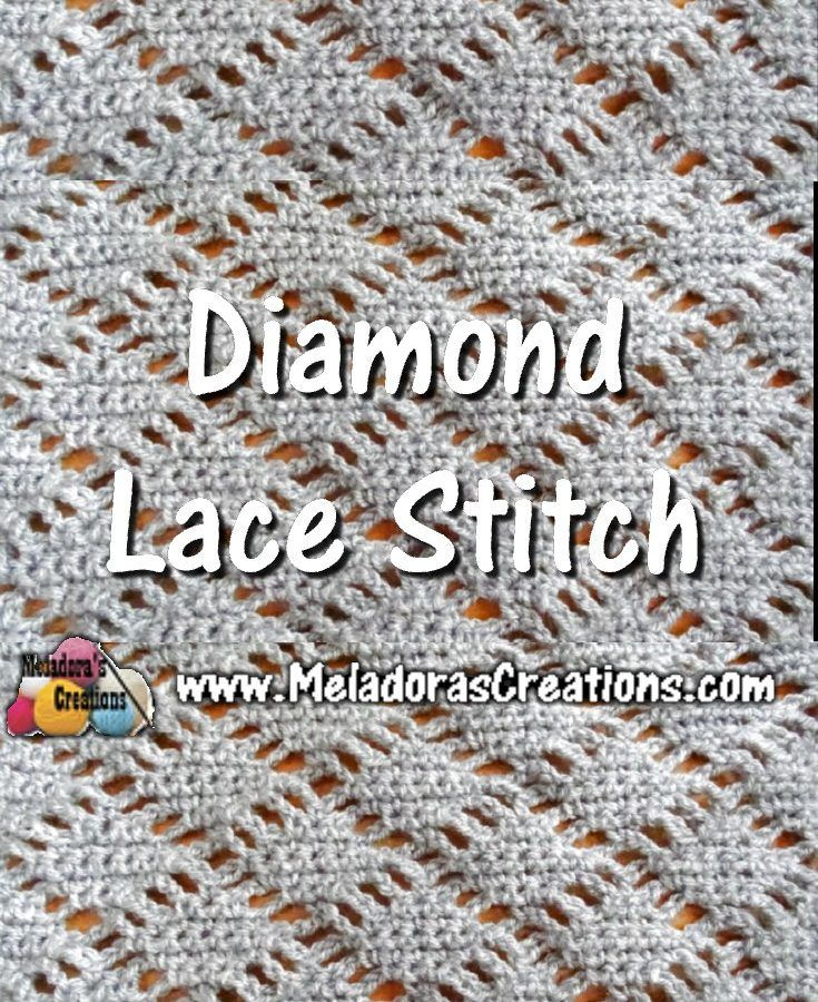 Meladoras Creations | Diamond Lace Crochet Stitch – Crochet ...