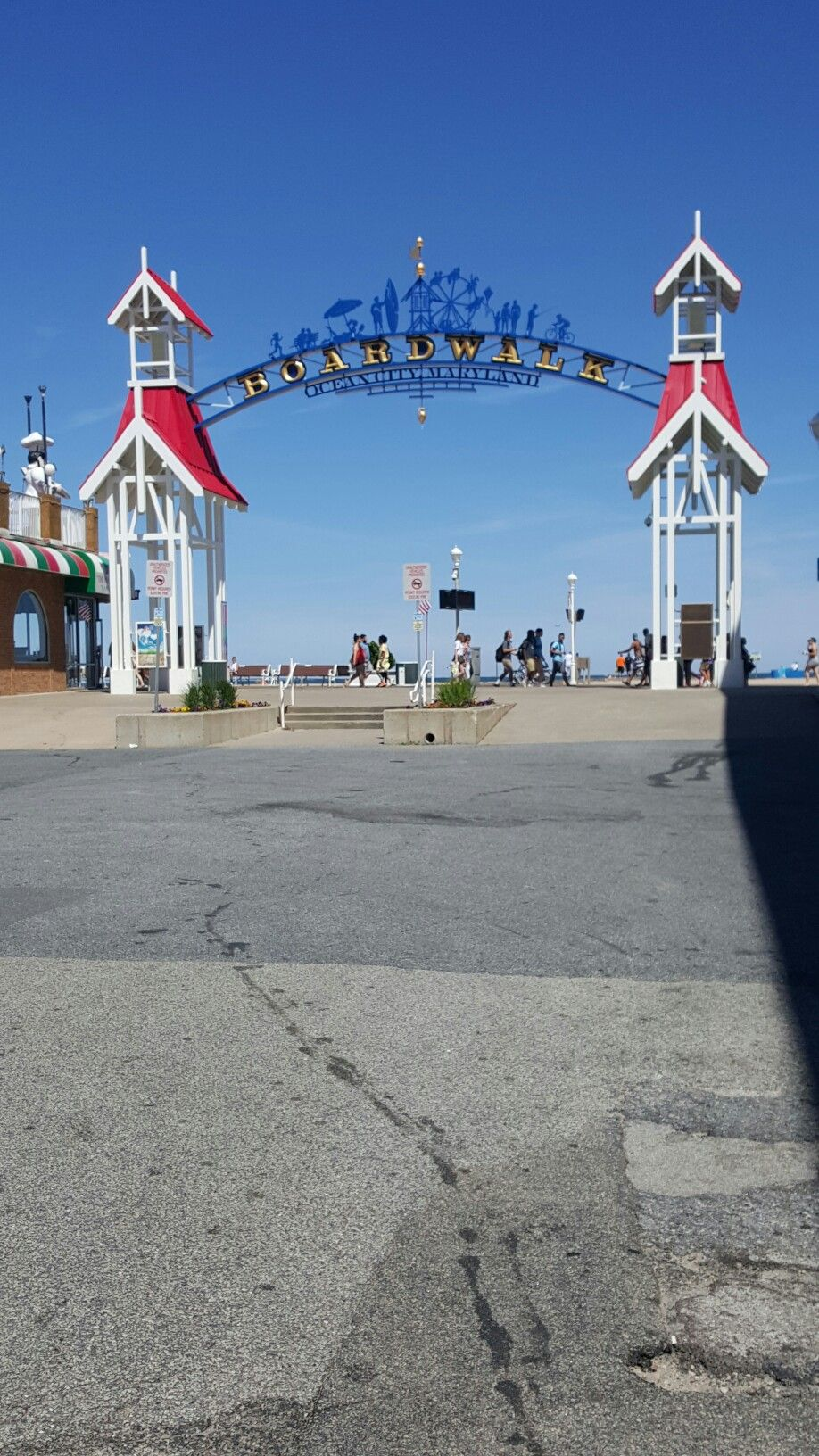 Entrance to the ocean city beach great place to visit it