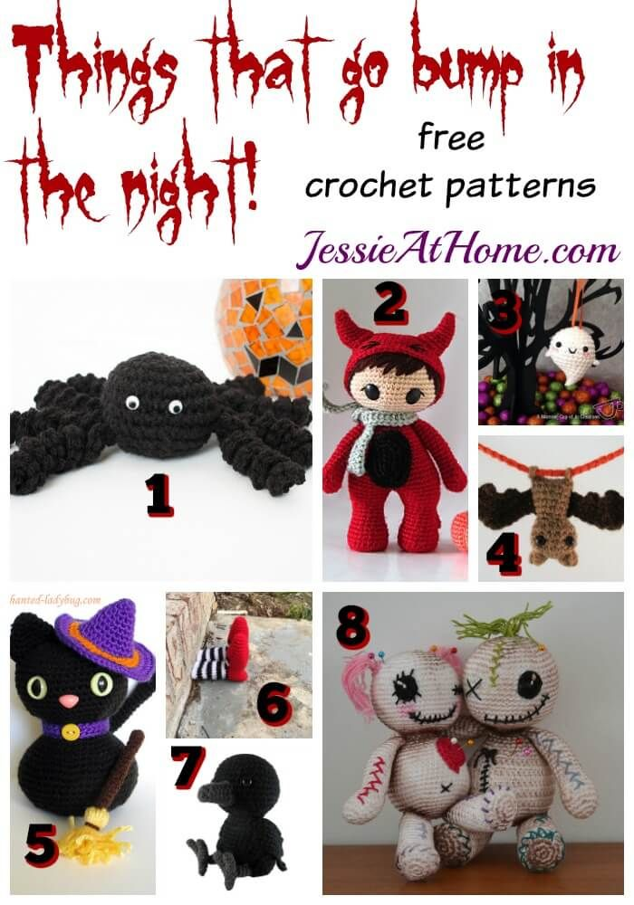 Things that go bump in the night! - free crochet patterns ...