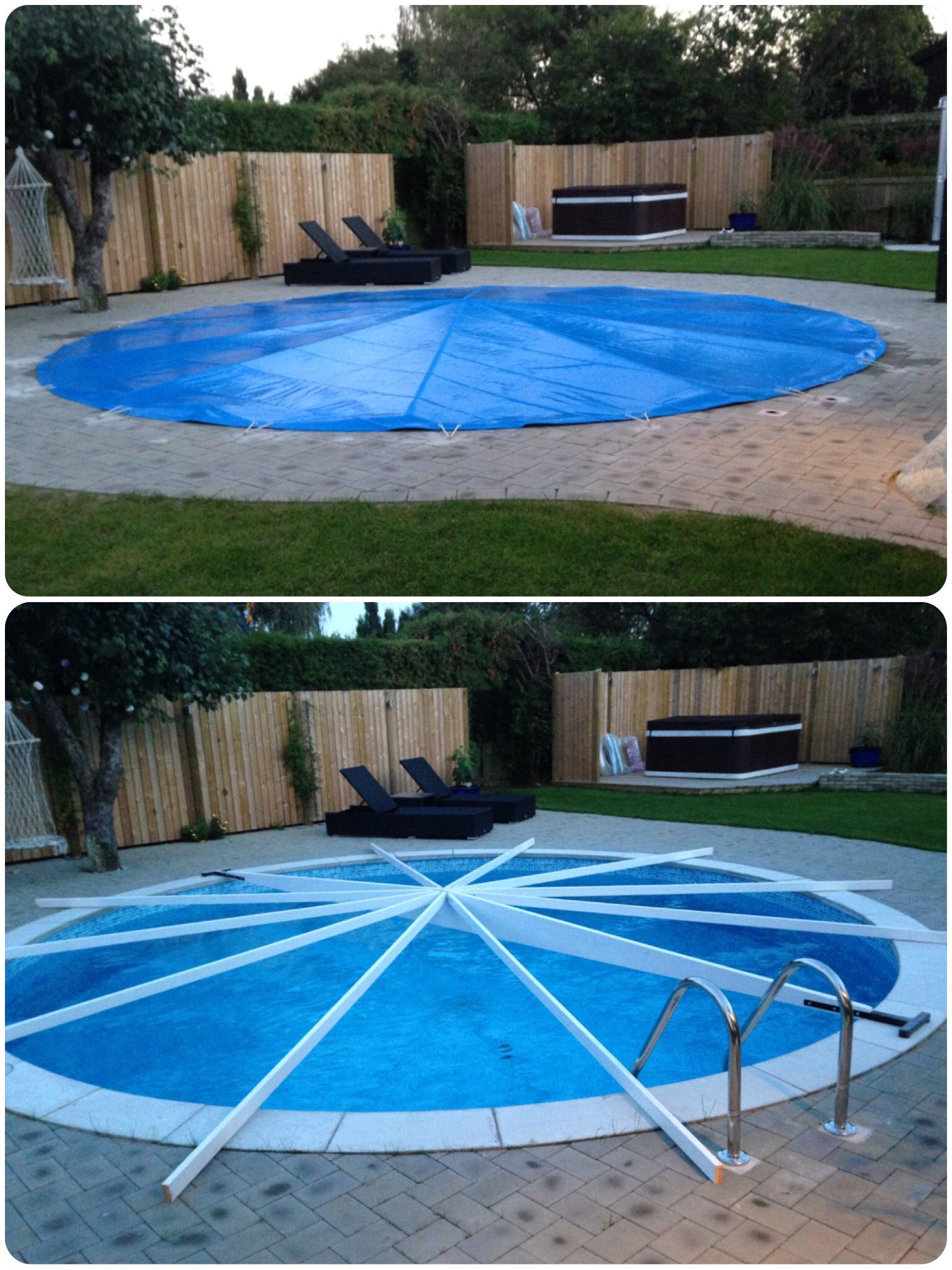 Diy Poolcover To Get Rid Of Rain And Melting Snow - Kleinen Pool Selber Bauen
