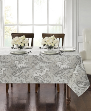 Waterford Taylor 70 X 126 Tablecloth Silver Table Linens
