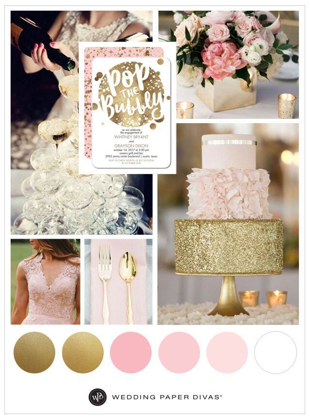 Pink And Gold Wedding Theme Ideas For Spring Spring Wedding Colors