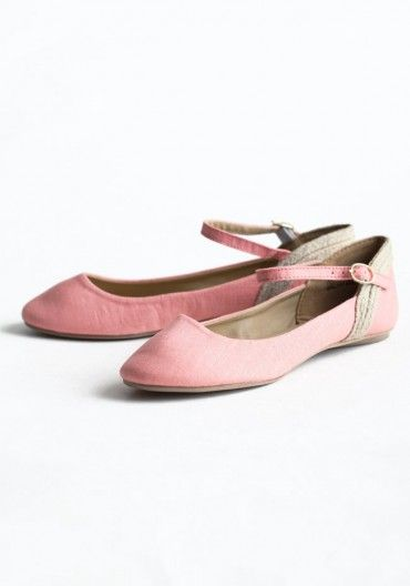 Carnation Mary Jane Flats, $37 >> Super cute for spring!