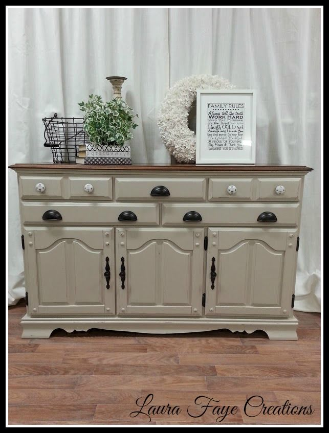 solid maple hutch refinished in primitive americana chalk paint distressed and sealed with - Home Decor Chalk Paint