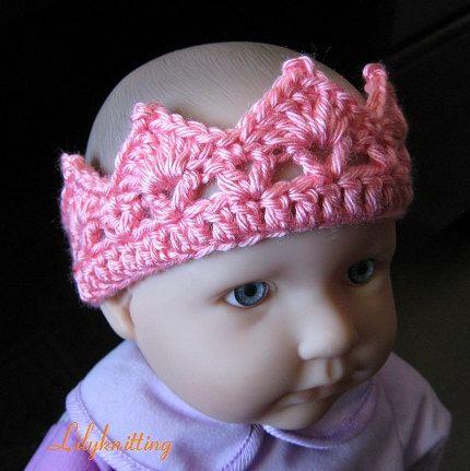 headband PATTERN Crocheted Crown headband in ALL sizes (Headband 14 ...