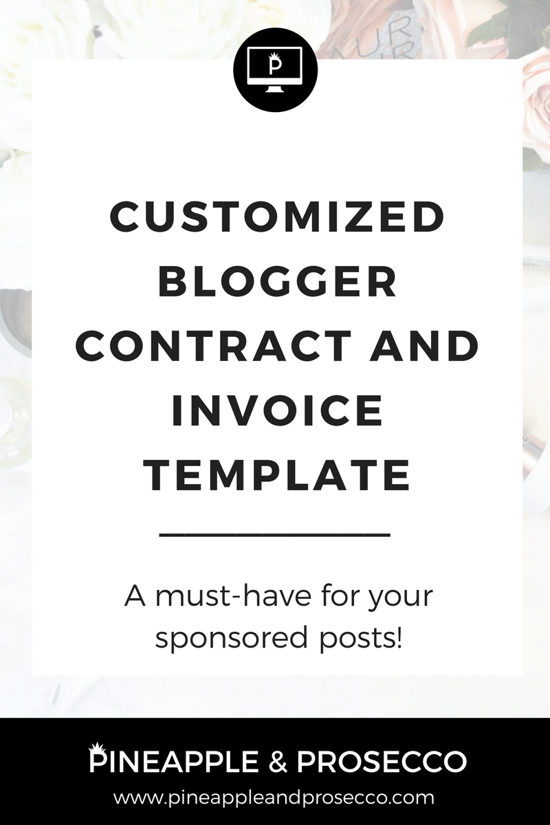 Custom Blogger Contract  Invoice Template  Blogging And Note
